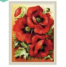 Diamond Embroidery Mosaic Red Poppies