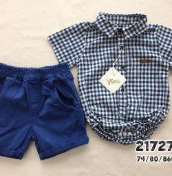 Бодик-рубашка и шорты