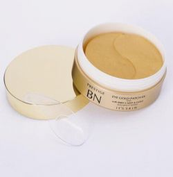 Hydrogel patches with gold for the skin around the eyes