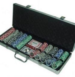 Набор для покера 500 фишек в кейсе