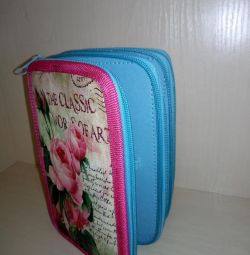 Three-section pencil case