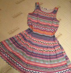 Rochie din bumbac tricotat