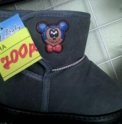 Ζεστές μπότες με γούνα 17-20r.