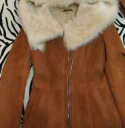 Natural sheepskin coat