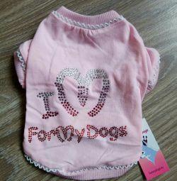 Футболка рожева (одяг для собак)