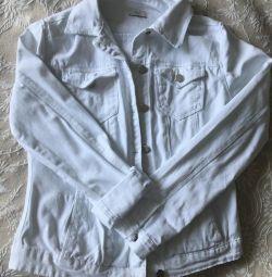 Jachetă albă denimă