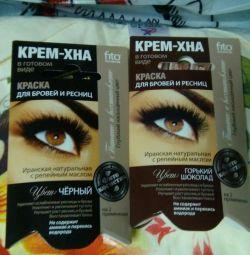 Cream eyebrow paint