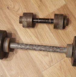 gantere 5 și 15 kg