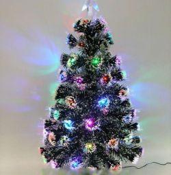 Arbore de Crăciun cu o ghirlandă încorporată de 60 cm