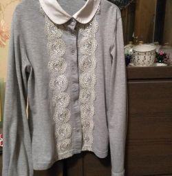 Блуза шкільна на дівчинку Duwali 140-146
