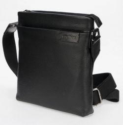 Δερμάτινη τσάντα από γνήσιο δέρμα