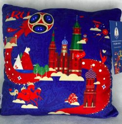 Pillow with the symbols of the football championship