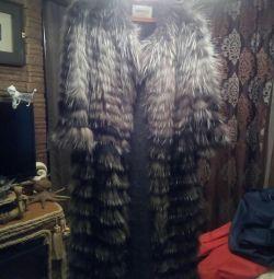 Palton de vulpe argintie