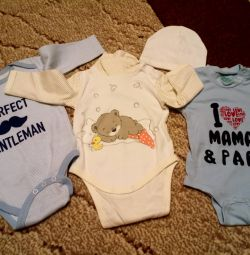 New bodysuits for a boy