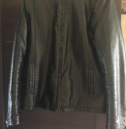 Jacket leather sheepskin coat