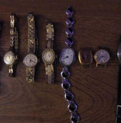 Колекція старовинних ретро наручних жіночих годинників