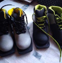 Лыжные ботинки 33, 34 разм