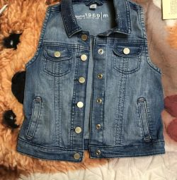 Vest for girls from jeans