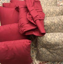 Ellipsebed малина подушки бортики і простирадло