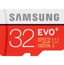 Карта пам'яті Samsung EVO + plus 32GB