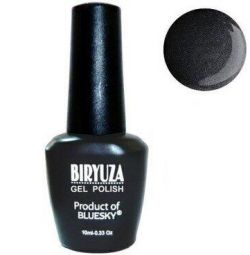 Gel varnish Turquoise 40 dark gray with shimmering shine