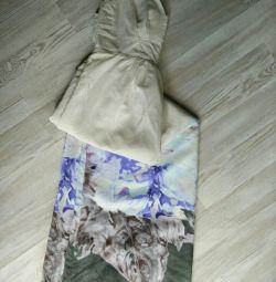 Axara ipek katında elbise sarafan