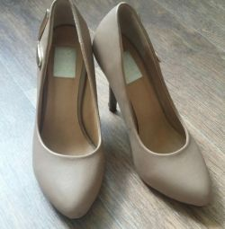 Shoes, beige 37