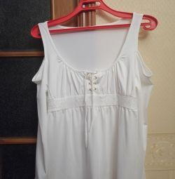 White viscose tunic,