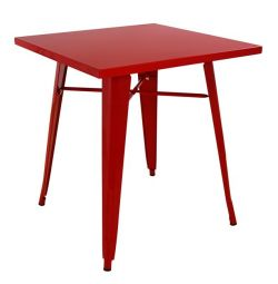 TABLE METAL IN COLOR RED HM0607.07 70X70