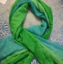 Bright, juicy green color chiffon scarf