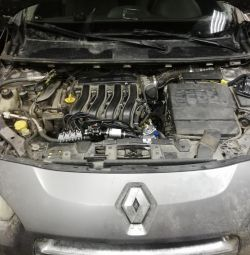 GBO on Renault Fluence installation of GBO 4th generation