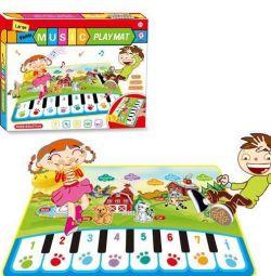 Детский музыкальный коврик, Пианино, № 282