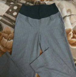 Hamile kadınlar için pantolonlar. Elastik. boyunduruk, boy L.