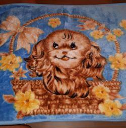 In the crib blanket 140h98