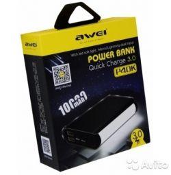 Awei P40K baterie de încărcare rapidă 3.0 externă
