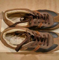 Kotofey sneakers deri çocuk üzerinde