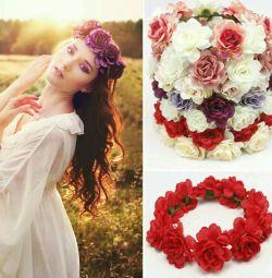 Cununa de flori pe cap