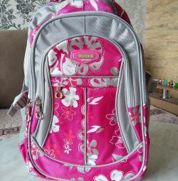 Рюкзак ранец портфель розовые цветы