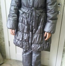 Down jacket with pants