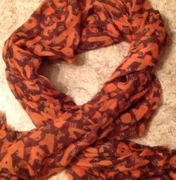 Scarf, Orange-Brown