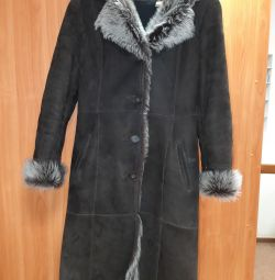 Φυσικό παλτό από δέρμα προβάτου