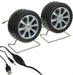 Новые компьютерные колонки Perfeo Wheels PF-038