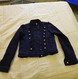 Doğal dar kottan ceket