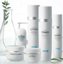 A set of skin care products.