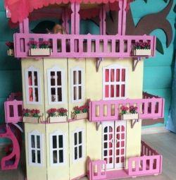 Barbie σπίτι με ασανσέρ - χρωματίστε τον εαυτό σας