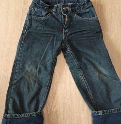 Утеплeнние джинси 98р.