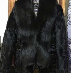 Short fur coat