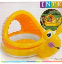 Pool Snail 145x102x74cm, 1-3 years old, Intex 57124