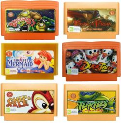 Cartridges with games Dendy (dandy)
