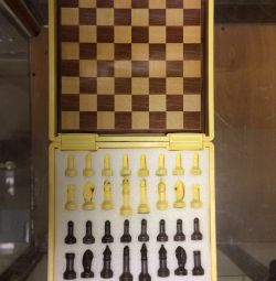 Chess and drafts, wooden Natural Ajedrez Damas